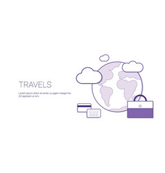 travel and vacation concept world trip tourism web vector image