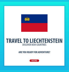 Travel to liechtenstein discover and explore new vector
