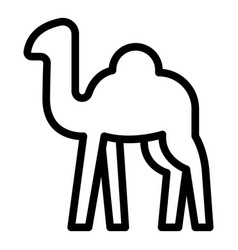 Trip camel icon outline style vector