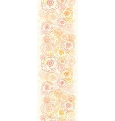 Warm flowers vertical seamless pattern background vector image vector image
