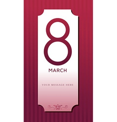 Womens Day March 8 background vector