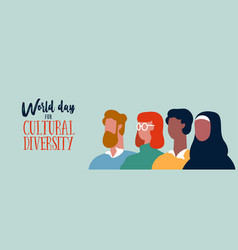 world cultural diversity day banner for social vector image