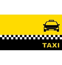 yellow business card with taxi car vector image