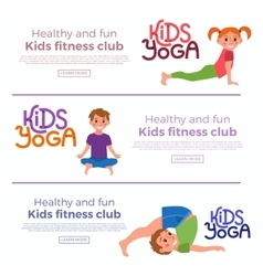 Yoga kids poses vector