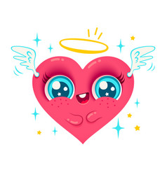 angel heart with wings vector image vector image