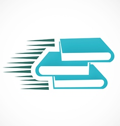book e book logo vector image vector image