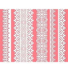 cute straight seamless lace set vector image