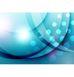 Elegant color waves with light flares vector image