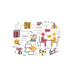 hr recruitment employee vector image vector image