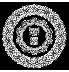 lace round 8 380 vector image vector image