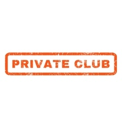 Private Club Rubber Stamp vector image vector image