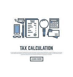 tax calculating vector image vector image