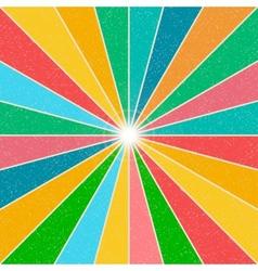 Bright rainbow background vector