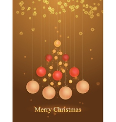 Christmas tree of balls vector image vector image
