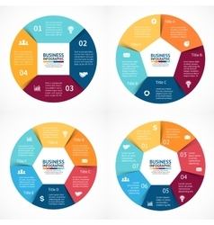 circle infographics set Template for cycle vector image