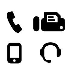 Contact phones vector