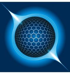 fantasy electric sphere vector illustration vector image vector image