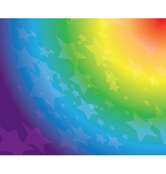 rainbow background with stars vector image