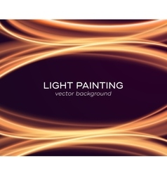Abstract background with glowing curves vector image vector image