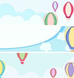 balloon banners vector image vector image