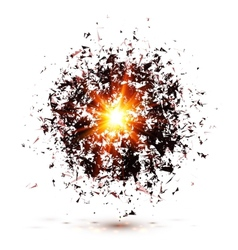 Black explosion isolated on white background vector image vector image