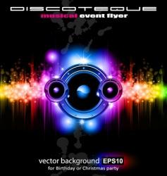 futuristic music vector image vector image