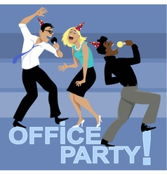 Office Party Invitation vector image vector image