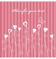 retro love floral card vector image