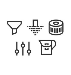 set filter icons vector image vector image