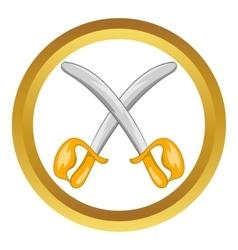 Toy swords icon vector image