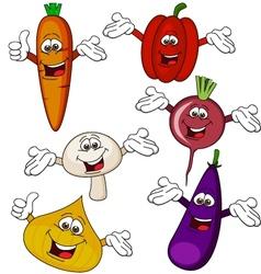 Vegetable cartoon character vector