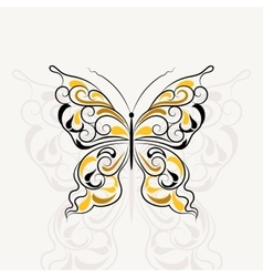 Vintage pattern in shape of a butterfly vector image