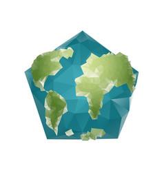 Earth polygon planet geometric figure pentagon vector