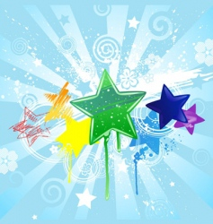 stars painted vector image vector image