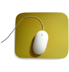 white computer mouse vector image vector image