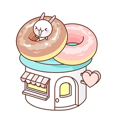 A doughnut shop vector