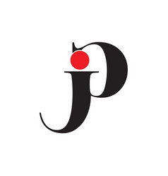 Abstract letter pj linked logo vector