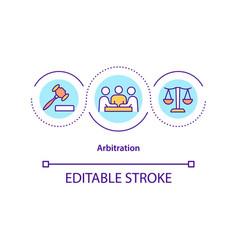 Arbitration concept icon vector