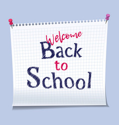 back to school banner design vector image