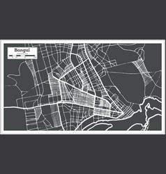 bangui central african republic city map in retro vector image