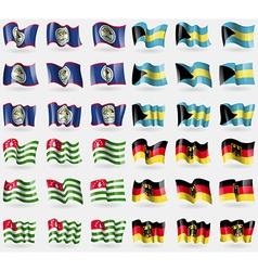 Belize Bahamas Abkhazia Germany Set of 36 flags of vector image