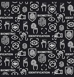biometric identification pattern vector image