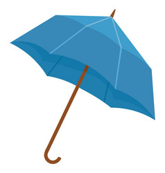 Blue umbrella or parasol to protect from rain vector