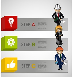 Business steps concept infographic work plan vector image