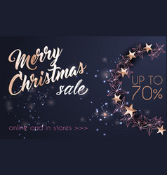 christmas background with christmas wreath of vector image