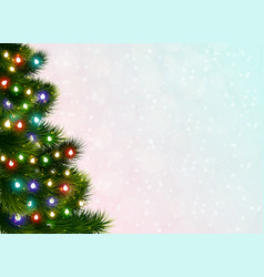 Christmas tree festive poster vector