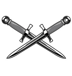Crossed dagger vector
