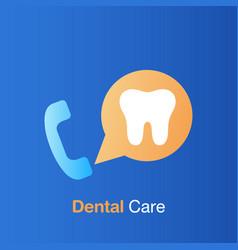 dental care concept service information vector image