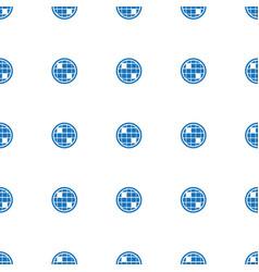 Disco ball icon pattern seamless white background vector