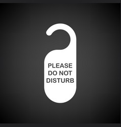 Dont disturb tag icon vector